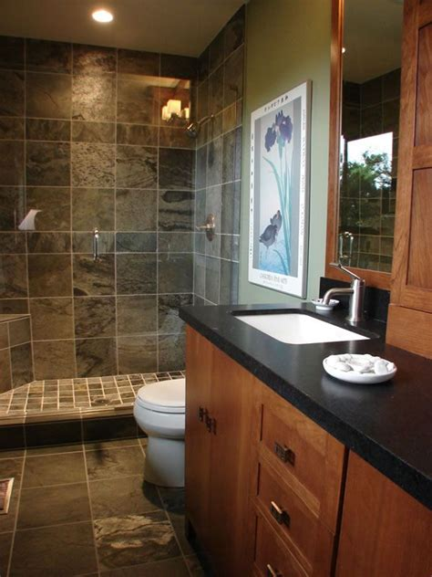 renovated bathroom ideas 78 best slate tile showers images on showers