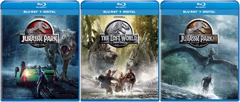 jurassic park cover the jurassic park trilogy is getting new blu ray covers so
