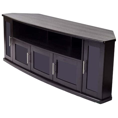tv stand 80 inch plateau newport series corner wood tv cabinet with glass