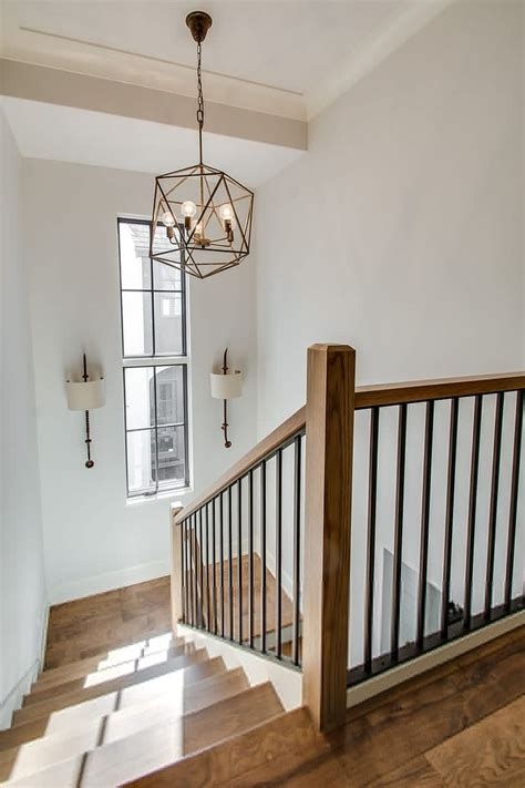 lighting house staircase interior stair railing