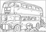 Bus Coloring Pages Colorkid Capital sketch template