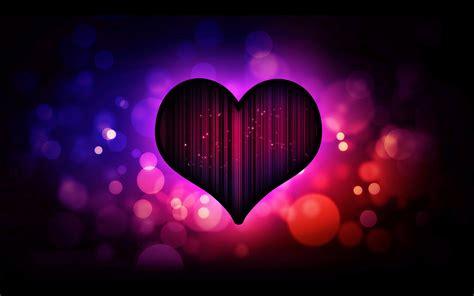 wallpaper dark purple heart love  hd picture image