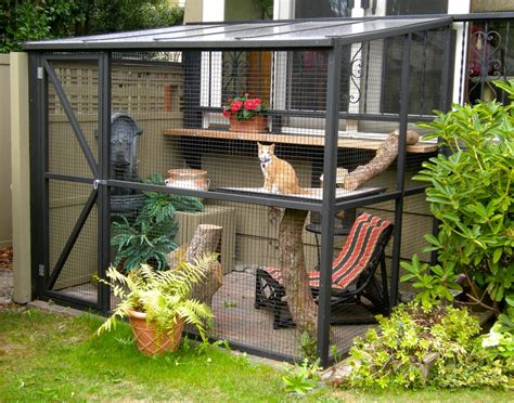 cat outdoor enclosure diy projects build your own cat enclosure melsteel