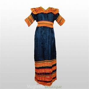 robe kabyle traditionnelle noir With robe kabyle traditionnelle