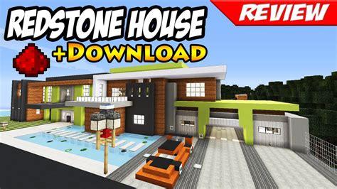 minecraft  modern redstone house  smart house youtube