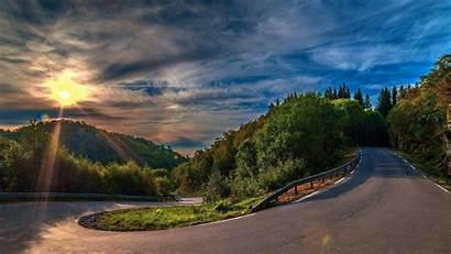 4k Ultra Background Road Sunset Wallpapersafari Serpentine