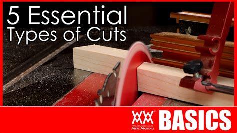woodworking cuts