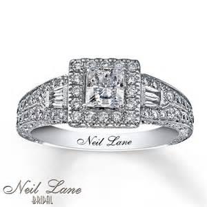 neil engagement rings jewelers neil engagement ring 1 ct tw diamonds 14k white gold
