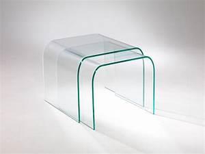 tavolino vetro curvato Tunnel Tre