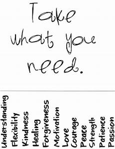 counselor corner take what you need With take what you need template