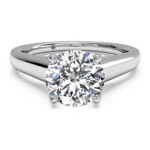 ritani engagement ring ritani solitaire white gold solid band engagement ring mounting king jewelers