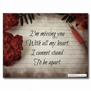 Short I Miss You Poem: Flowers, Paper and Pen
