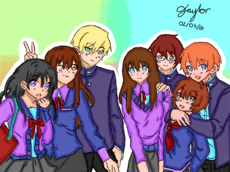 Anime Group Of Friends By Elise2468 On Deviantart