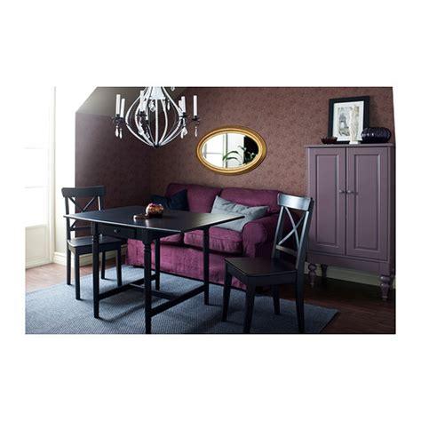 ingolf chair brown black ikea