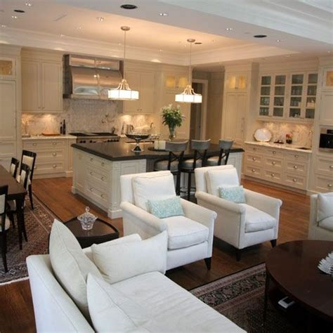 Decorating Ideas For Family Room Kitchen Combination by Great Room Kitchen Dining Room Family Room Combo Maybe