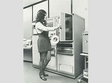 Vintage Photos of Miniskirts Behind The Computers