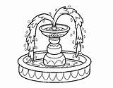 Fountain Coloring Drawing Water Pages Trowel Watering Coloringcrew Template Garden Gardening User Registered Colored Sketch Paintingvalley sketch template