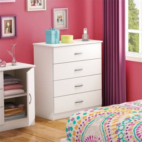 South Shore Libra 4 Drawer Dresser by South Shore Libra 4 Drawer Chest In White 3050034