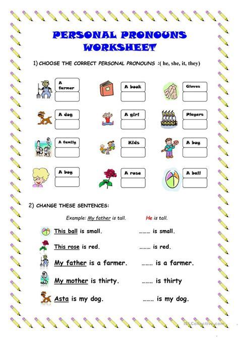 Personal Pronouns Worksheet Worksheet  Free Esl Printable Worksheets Made By Teachers