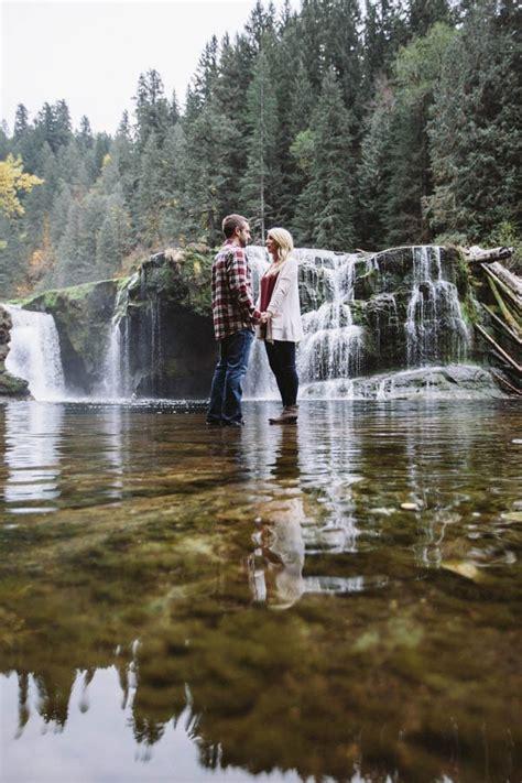 adorable washington proposal   lewis river falls