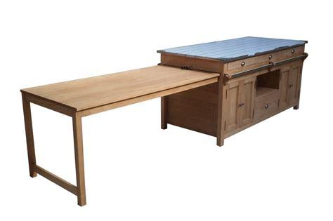 ilot cuisine table ilot central cuisine en bois uzes