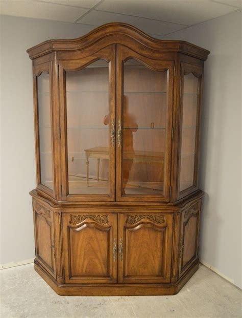 french provincial china cabinet white furniture french provincial style china cabinet ebay
