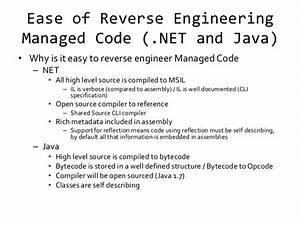 Reverse Engineering  Net And Java