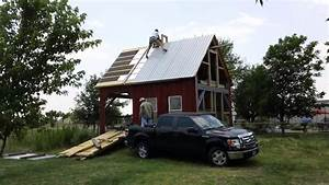Putting Up Barn Metal Roof