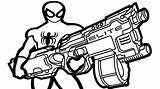 Nerf Coloring Gun Guns Spider Spiderman Elite Kolorowanki Ausmalbilder Od Printable Dzieci Colorare Disegni Themed Coloringpagesfortoddlers Dla Kleurplaten Weapon Boys sketch template