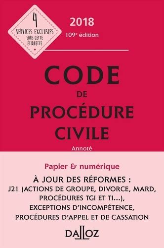 code de procedure civile  annote  ed de pierre