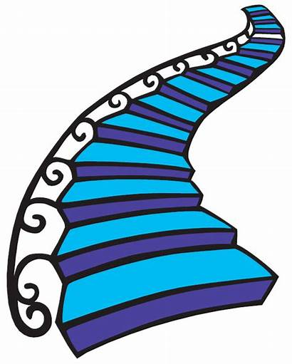 Stairs Clipart Staircase Walking Cartoon Transparent Falling
