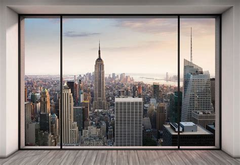 modern vires of the city vire weekend nyc new york city manhattan skyline penthouse view photo wallpaper wall mural ebay