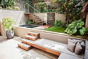 25 idees pour amenager et decorer un petit jardin With piscine en forme de coeur 3 inspiration de beaux decks de piscine amenagement paysager
