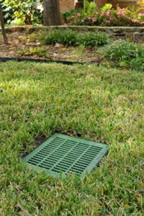 Catch Basin In Backyard by Fort Worth Tx Landscape Drainage Systems Install Repair