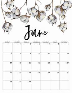 cute june 2020 calendar printable 2020 free printable calendar floral paper trail design