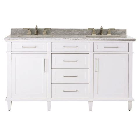 60 sink vanity home depot home decorators collection sonoma 60 in vanity in