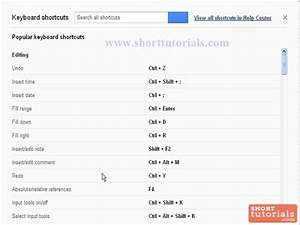 keyboard shortcuts for google docs spreadsheet With google docs spreadsheet shortcuts