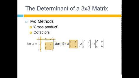 find  determinant   matrix tutorial youtube