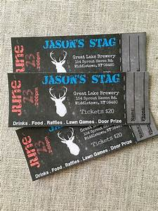 stag buck bachelor event tickets diy digital printed With stag tickets template