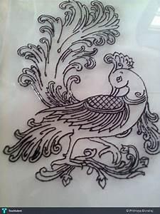 Peacock Outline - Painting | Prithivya Dorairaj | Touchtalent