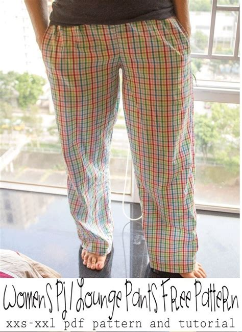 pattern women pajama lounge pants sewing
