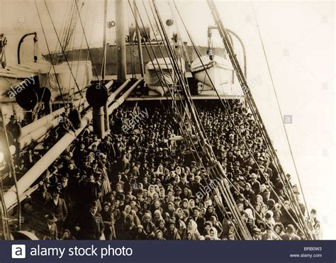 Boat From Us To Europe by Immigrants From Eastern Europe On Boat 19th Century