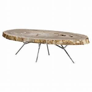 eichholtz hawthorn modern brown tree trunk silver metal With silver tree trunk coffee table