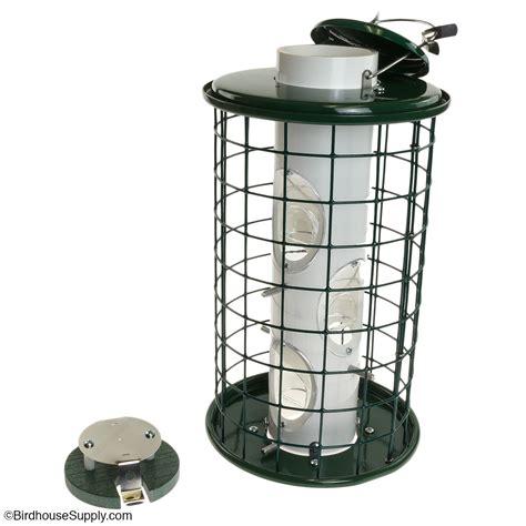 caged bird feeder  woodlink  birdhousesupplycom