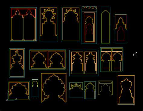 islamic arches  autocad  cad   kb