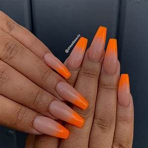 43 of the best orange nail ideas and designs stayglam