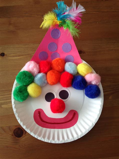 Paper Plate Clown Craft  Circus Craft  Preschool Craft
