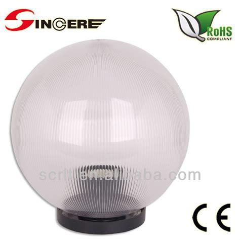 outdoor lighting uvioresistant acrylic glass globe light