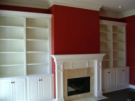Built In Bookcase Around Fireplace by Ted Carpentry Mantle With Bookcase Cabinets