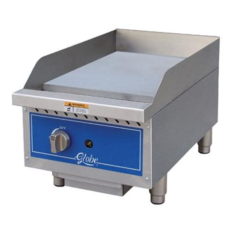 Countertop Griddle Gas - globe gg15g 15 in gas countertop griddle etundra